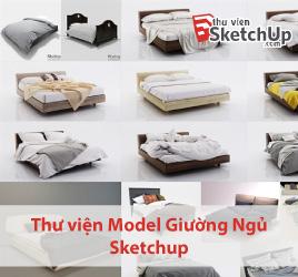 Thư viện model Giường Ngủ đẹp Sketchup
